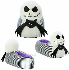 NEW JACK SKELLINGTON HEAD Nightmare Before Christmas Adult Plush Slippers Shoes