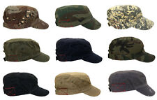 Camouflage Cadet Cotton Distressed Washed Color Military Army Cap Unisex Hat