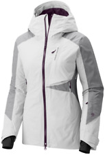 MOUNTAIN HARDWEAR WOMENS M POLARA INSULATED SKI SNOWBOARDING WINTER JACKET WHITE
