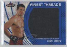 2012 Topps UFC Finest Jumbo Threads Blue X-Fractor #JFT-CS Chael Sonnen MMA Card