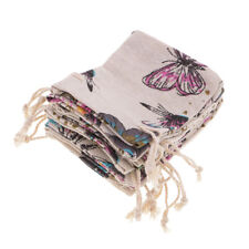10Pcs/Lot Linen Butterfly Drawstring Sack Jewelry Wedding Party Candy Gift Bags