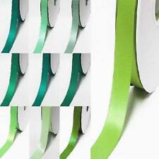 """by the 5 yards double faced satin ribbon 1/2"""" / 13mm.lime to green"""