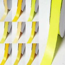 """by the 5 yards double sided satin ribbon 1"""" / 25mm yellow-orange"""
