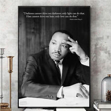 """Martin Luther King Jr.""""Darkness Cannot Drive Out Darkness Art Canvas Poster"""