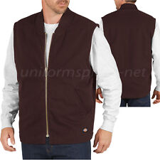Dickies Work Vest Mens Sanded Duck Insulated Vest TE240 Cotton Sleeveless Jacket