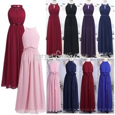 Sexy Women Long Halter Chiffon Dress Cocktail Evening Party Bridesmaid Ball Gown