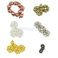 10 Sets Two Parts Round Ball Brass Magnetic Clasp Hook Jewelry Finding DIY Craft
