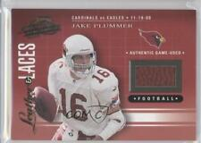 2001 Playoff Absolute Memorabilia Leather & Laces #LL14 Jake Plummer Card
