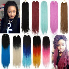 20 Roots/pc Thick Braids Senegalese Twist Crochet Kanekalon Hair Extensions P37