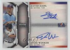 2011 Bowman Sterling #USDA-DW David Dahl Jesse Winker Auto Rookie Baseball Card