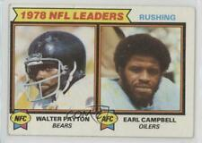 1979 Topps #3 Walter Payton Earl Campbell Houston Oilers RC Rookie Football Card