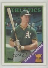 1988 #580 Topps All-Star Rookie Mark McGwire Oakland Athletics Baseball Card