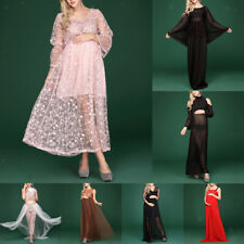 Mesh Maternity Photography Props Long Pregnancy Dress Clothes For Pregnant Women