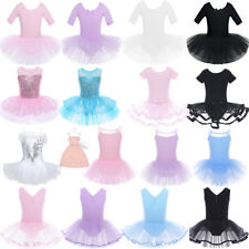 Ballet Girl Dance Tutu Dress Kid Gymnastic Leotard Dancewear Skirt Costume 2T-14