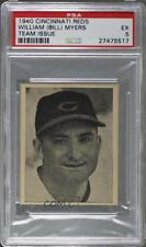 1940 Cincinnati Reds Team Issue W711-2 #WIMY William Myers PSA 5 Baseball Card