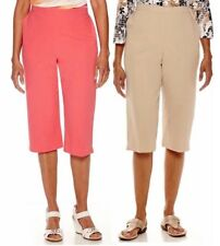 Alfred Dunner Womens Capris Classics Pull On Solid size 8 10 18 NEW