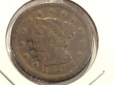 1851 Large Cent Counterstamp E.P.M. Counterstamped 1851 Large 1c E.P.M.  NR!+FS!