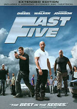 Fast Five  rated & unrated versions  Vin Diesel  new  DVD