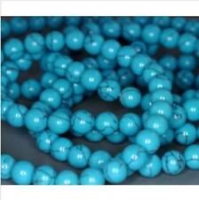 6mm8mm10mm Blue Turkey Turquoise Round Loose Beads Gemstone 15''