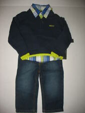 NWT DKNY 3 Pc Infant Boys Sweater Jeans Set 12 or 24 Mos.