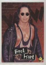 1998 Topps WCW/nWo Stickers #S8 Bret Hart Rookie Wrestling Card