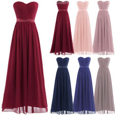 Evening Women's Formal Party Bridesmaid Cocktail Chiffon Wedding Long Maxi Dress