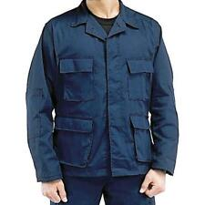 Navy Blue - Military BDU Shirt - Cotton Ripstop