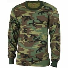 Woodland Camouflage - Kids Military Long Sleeve T-Shirt
