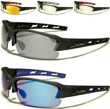 X-LOOP SUNGLASSES MENS LADIES LARGE SEMI-RIMLESS SPORT RUNNING CYCLING DUATHALON