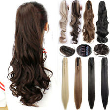 New Thick Clip In Pony Tail Hair Extensions Claw Clip On Ponytail As Human R71