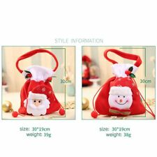 Christmas Candy Pouch Gift Bag Drawstring Sack Handbag Party Decoration