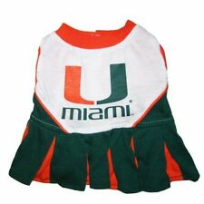 NCAA Miami Hurricanes Dog Pet Cheerleader Dress (sizes)