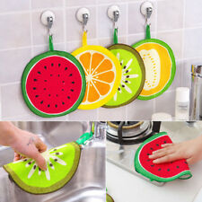 Lovely Fruit Print Hanging Dish Cloth Wiping Napkin Kitchen Hand Towel Tools