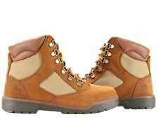 Timberland 6-Inch Field Boot Medium Brown Nubuck Junior Kids Boots 44996