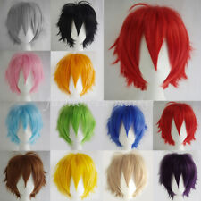 Free Shipping Halloween Hair Wig Short Layer Unisex Cosplay Full Wigs Party Wigs