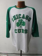 Chicago Cubs Mens Large - 2X-Large 3/4 Sleeve Screened T-Shirt LL 1006 LL 1008