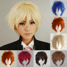 Multi Color Short Straight Hair Wig Anime Party Cosplay Full Wigs Party Daily Gt