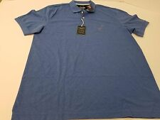 Chaps Easy Care Knit Short Sleeve Polo Golf Shirt Blue Men's Size Large & XL NWT
