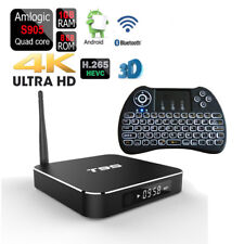 Bluetooth Quad-Core T95 Dual Wifi Android 1080p TV Box+Backlit Wireless Keyboard