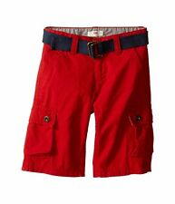 Levis Boys Belted Cargo Shorts Westwood Ripstop Red Kids size 10 14 16 NEW