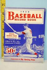 1950 The Sporting News Baseball Record Book Official Rules Ted Williams Cover