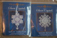 Mill Hill Snow Crystals, Charmed Ornaments - Lot of 2 Counted Glass Bead Kit