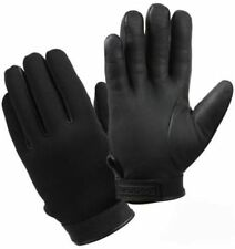 Black - Cold Weather Insulated Stretch Fabric Duty Gloves