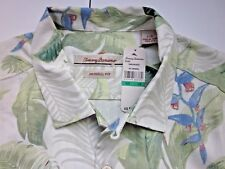 TOMMY BAHAMA Mens Silk Button Down (NWT) 100% Slik Bungalow Breeze Camp Shirt