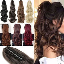 US Fake Hair Ponytail Long Synthetic Hair Hairpiece Clip In Pony Tail 100% New A
