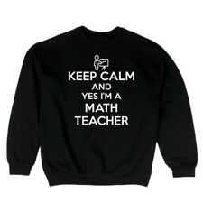 keep Calm And Yes I'm A Math Teacher Men's Sweatshirt