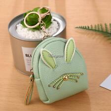 Women Synthetic Leather Cute Rabbit Ear Pattern Coin Purse Wallet with UTAR