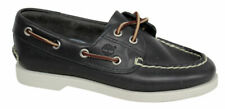 Timberland Youth Lace Up Leather Navy Boat Shoes 25732 U80