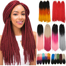 5Packs Dreadlock Faux Locs Braid Hair Crochet Braids Black Red Hair Extension PN
