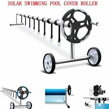 SOLAR SWIMMING POOL COVER ROLLER BLANKET BUBBLE ADJUSTABLE WHEELS STAINLESS STEE